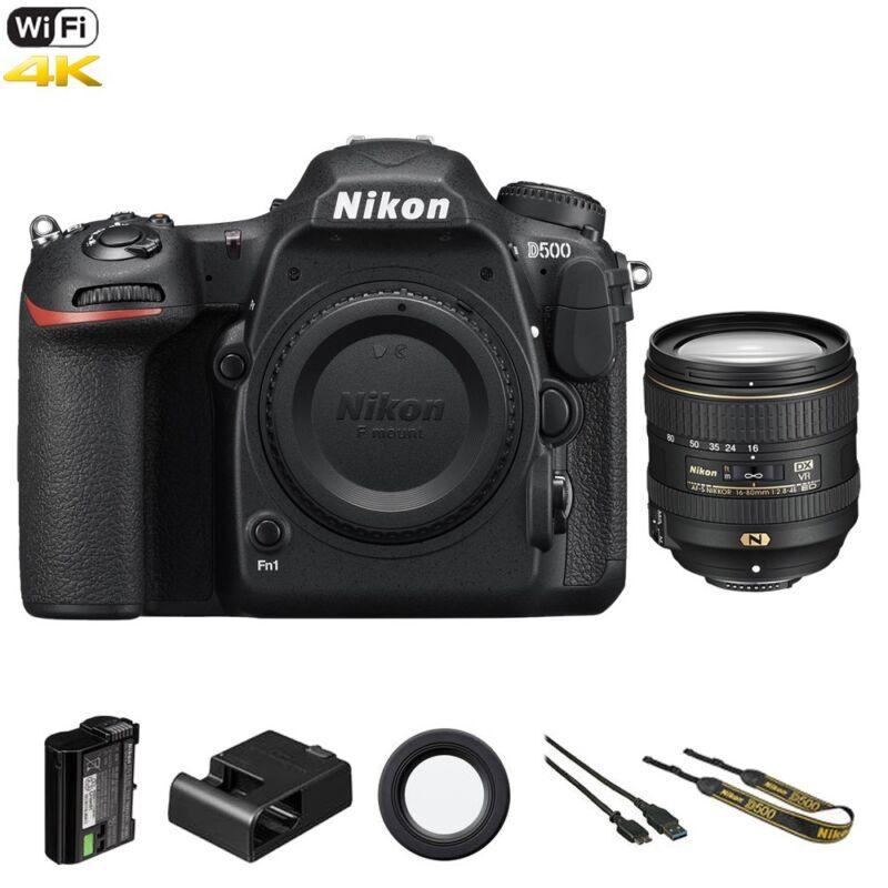 Nikon D D500 20.9 Mp Dslr Camera - Black (kit W/ 16-80mm Af-s Dx Ed Vr Lens)