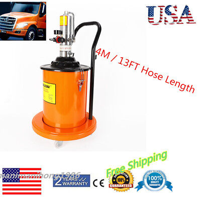 Air Operated High Pressure Grease Pump High Pressure Hydraulic Hose 20L 5 Gallon
