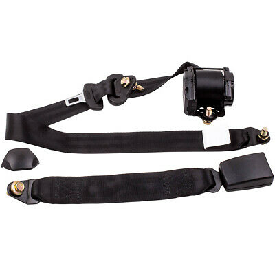 1 Set of 3 Point Safety Adjustable Retractable Auto Car Seat Belt Lap Universal