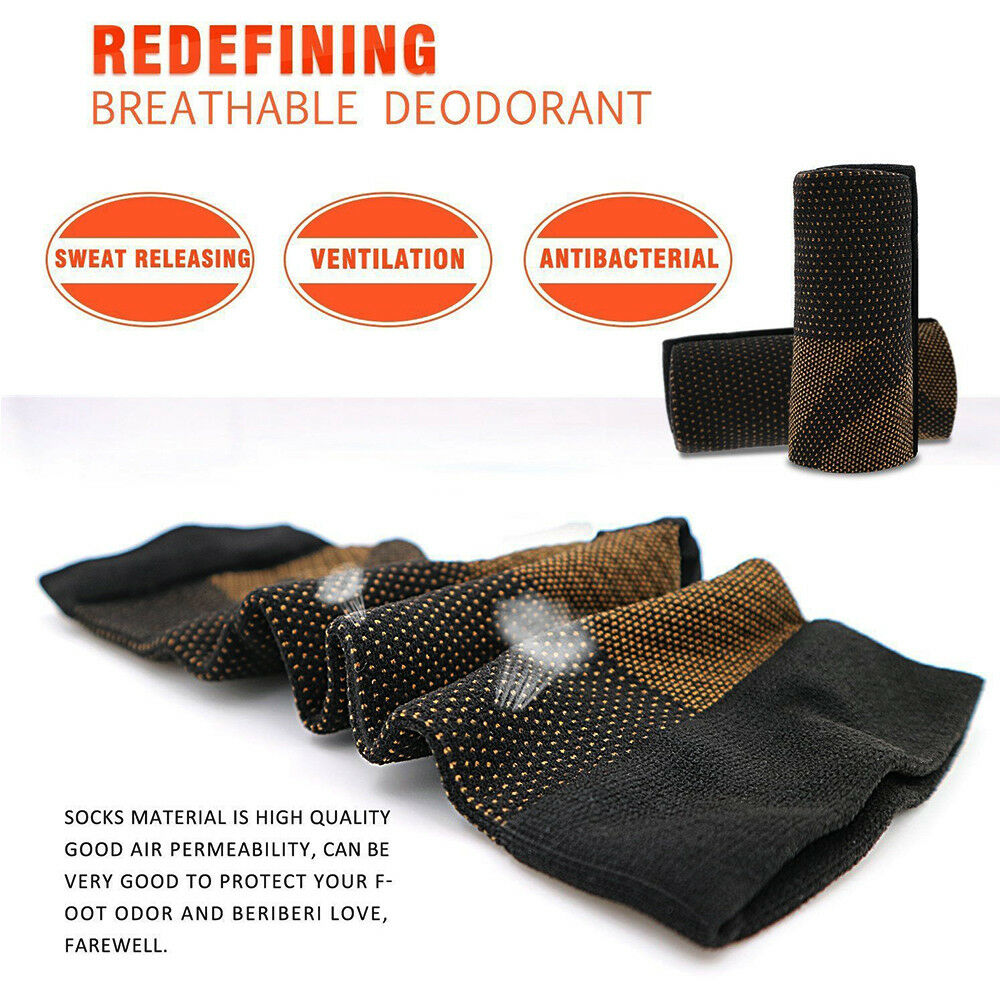Copper Socks Support Arch Brace Pain Relief