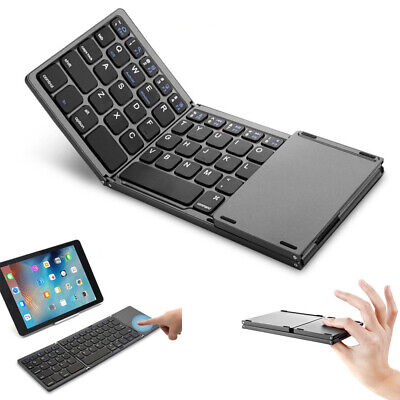 Foldable Bluetooth 3.0 Keyboard with Touchpad for Phone Android iOS Windows PC