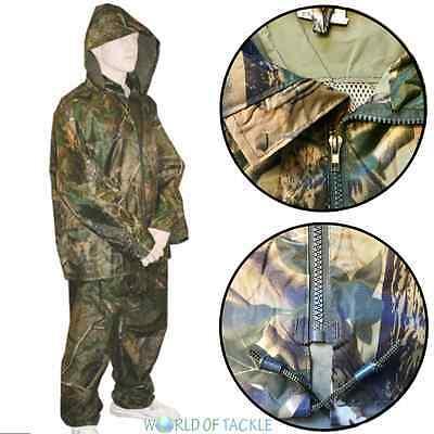 Fishing Rain Suit Waterproof Jacket Trouser Set Hunting Rainsuit Clothing