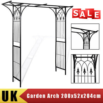 Metal Garden Wedding Arch Heavy Duty Strong Rose Climbing Plants Archway Tubular