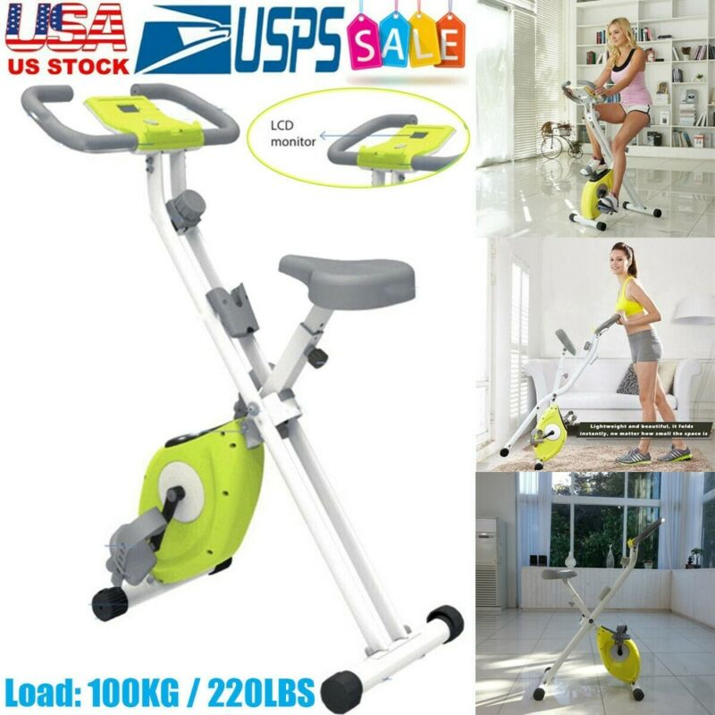 Indoor Stationary Bike With Tablet Stand Cycling Folding Mag