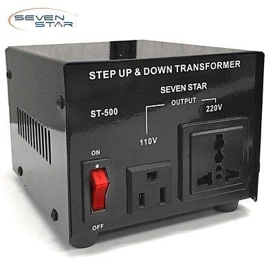 500w Voltage Converter - SevenStar ST-500W Watt Heavy-Duty Voltage Transformer 110V-220V Power Converter