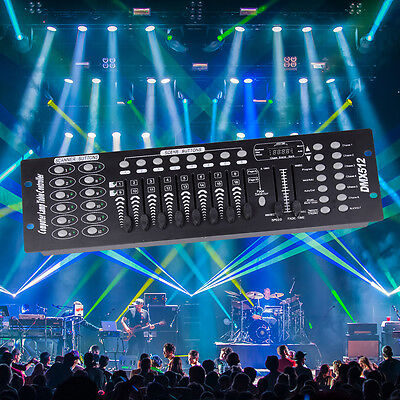 192 Channels DMX Controller DMX-512 Stage Light Console for DJ Disco Bar Party