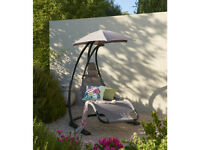 Helicopter Swing Chair Lounger Hammock Seat Outdoor Garden Patio canopy NEW RPR 170