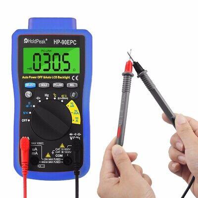 Digital Multimeter 1000v 20a 1.5v-12v Battery Test Acdc Diode Meter Usb To Pc