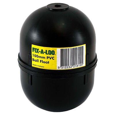 Fix-A-Loo Cistern PVC Ball Organize Black 100mm, Auatralian Brand