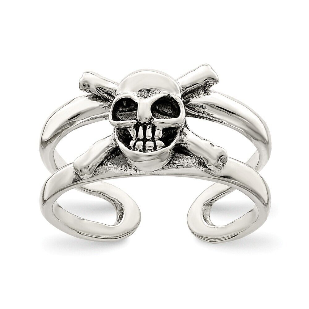 Skull Biker .925 Sterling Silver Toe Ring