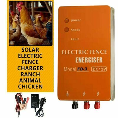 3 Joules High Power Livestock Farm Electric Fence Wire Energizer Dc 12v220v Ac