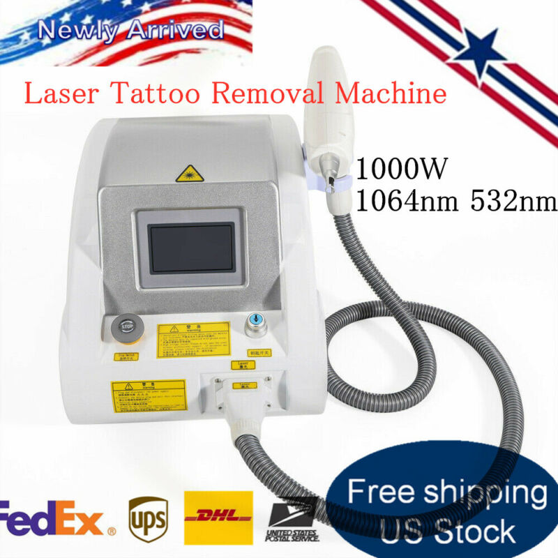 YAG Laser Eyebrow Tattoo Removal Machine Whitening Skin Clean Blackhead Machine