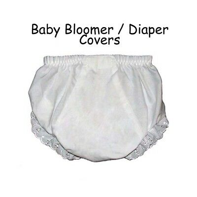 Baby Diaper Covers Bloomers Embroidery Blank - White - 12 months