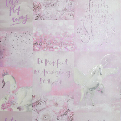 Arthouse Pandoras Dream, Pink, Glitter Unicorn Wallpaper