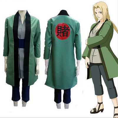 HOT Anime NARUTO Tsunade Cosplay Costumes Whole Set Halloween Toy Gift (Halloween Anime Naruto)