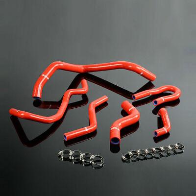 6PCS Silicone Radiator Hose Kit FOR HONDA CIVIC D15 D16 SOHC EG/EK 92-00 RED