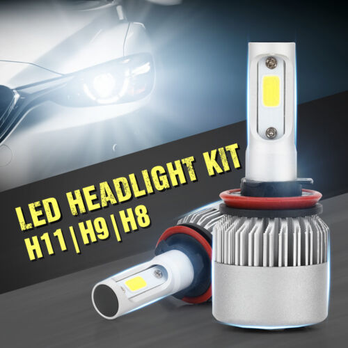 2pcs Car LED Light Bulb S2 H11 H8 H9 Headlight Auto Lighting 6000K 8000LM White Car & Truck Parts