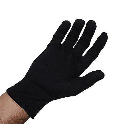 Size Large - 12 Pairs Black Parade Fashion Inspection 100% Cotton Lisle Gloves