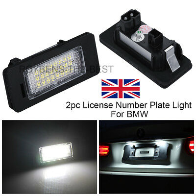LED License Number Plate Light Lamp Bulbs For BMW E39 E60 E82 E70 E90 E92 X3/5/6