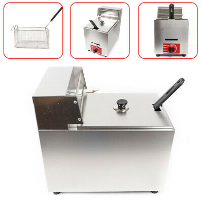 10l Commercial Gas Fryer Propanelpg French Fries Deep Fryer 1basket Stainless