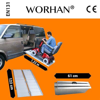 WORHAN® 1.22m Rampa Plegable Silla de Ruedas Discapacitado Movilidad Aluminio R4