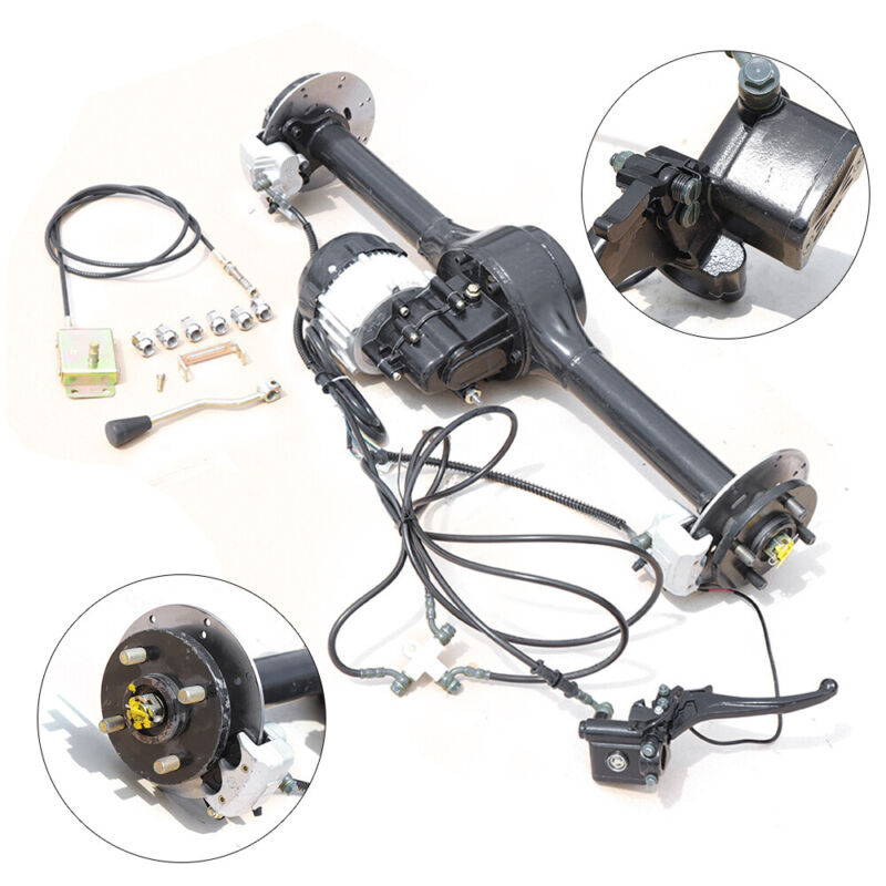Adult Tricycle Multi-Speed Disc Brake Rear Axle for Electric Tricycle 500W 200KG