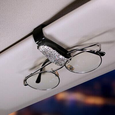 Car Accessories Sun Visor Sunglasses Eye Glasses Holder Clip Bling Rhinestone
