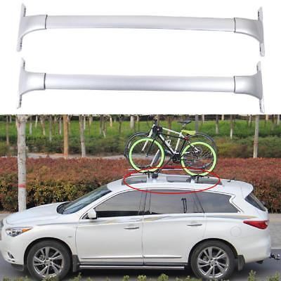 Silver Car Top Roof Racks Cross Bars Luggage Holder for Nissan Rogue 2014-2018