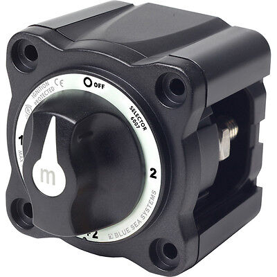 Blue Sea 6007200 m-Series 4 Position 2 Bank Battery Switch Selector BLACK