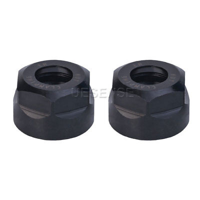2x Precision Er11 A Collet Clamping Chuck Holder Nut For Cnc Router Milling