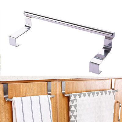 Stainless Steel Over Door Towel Hook Rack Kitchen Cabinet Storage Shelf (Stainless Steel Towel Shelf)