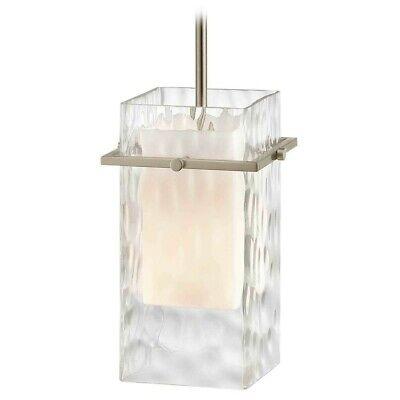 Design Classics Satin Nickel Mini-Pendant Light with Water Glass ~NEW~