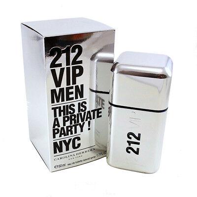 Details about 212 Vip Men Eau De Toilette Spray 1.7 Oz 50 Ml for Men by Carolina Herrera