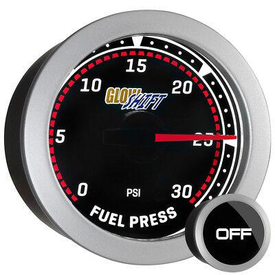 52mm GlowShift Tinted Diesel 30psi Fuel Pressure Gauge for Dodge Cummins 24v