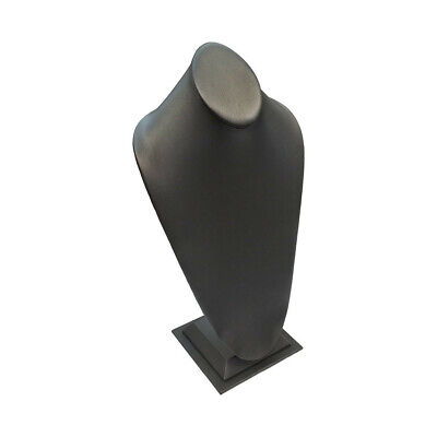Slate Gray Leatherette Necklace Stand 15h Display Fixture Retail Store