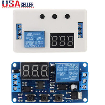 12v Led Automation Delay Timer Control Switch Relay Module With Case E3n5