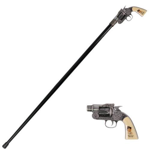 ALL NEW Vintage BILLY THE KID Revolver Gun Handle Gentlemen Cane Walking Stick