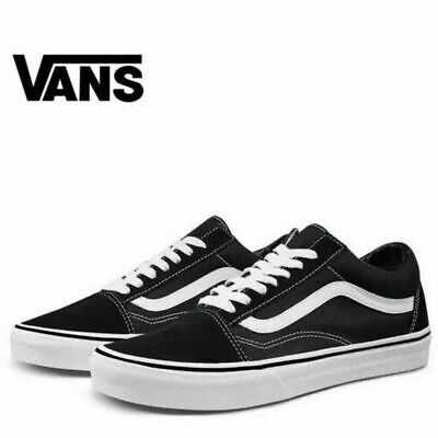 Vans Old Skool Black White Skate Shoes Trainers - Unisex for Men and Women