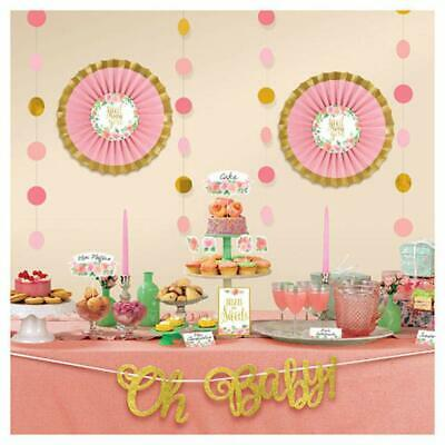 Girl Baby Shower Banner (SWEET BABY GIRL BUFFET Decorating Kit Shower Decorations Room Wall Banner)