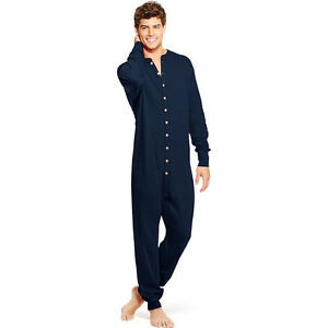 Mens Champion Duofold Originals Merino Wool Union Suit Long Johns (KMMU) Navy-S