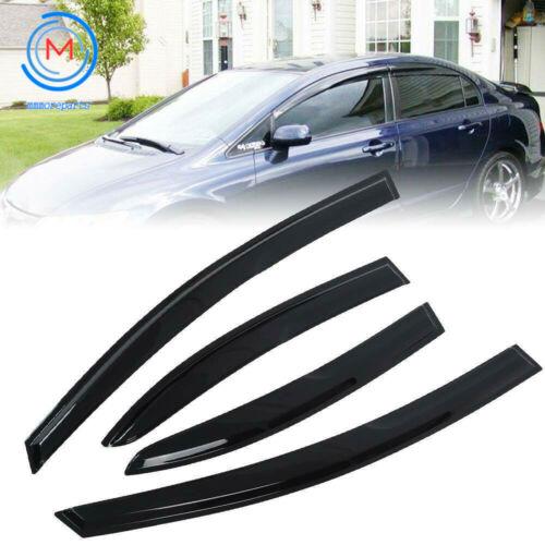 Window Vent Rain Guard Visor Deflector For Honda Civic 4 Door Sedan 20062011