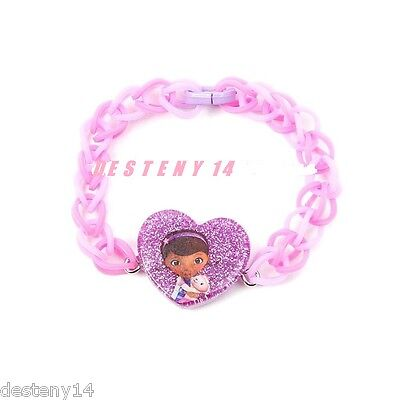 Disney Doc McStuffins Purple Loom Rubber Band Bracelet Lambie Heart New](Doc Mcstuffins Bracelet)