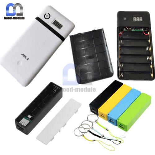 Six 6X 1x 18650 Battery Mobile Power Bank Charger Case Box 5V21V For Laptop 5V