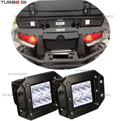- 2x LED Flush Mount Light Pods Flood light Square For Jeep Atv Boat Suv Truck 4WD