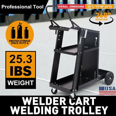 Heavy Duty Welding Cart Trolley Welder Plasma Cutter Bench Storage Mig Tig Arc