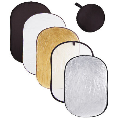 """110x150cm 5in1 Photography Oval Light Reflector Collapsible Photo Studio 40x60"""""""