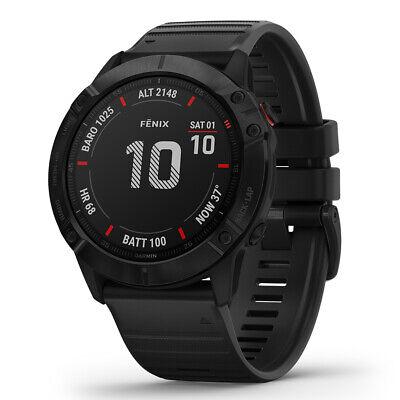 Garmin fenix 6X Pro Multisport GPS Watch - Black with Black Band (OPEN BOX)