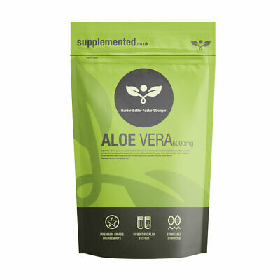 Aloe Vera Extract 6000mg 180 Tablets High Strength Colon Cleanse Supplement