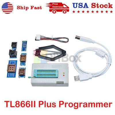 Tl866ii Plus Programmer 7 Flash Adapters Socket Eprom Bios Avr Mcu Pic F Windows