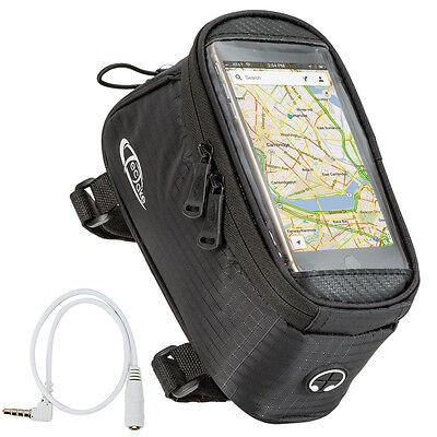 Fahrradtasche L Rahmentasche Handy Oberrohrtasche Smartphone Tasche schwarz